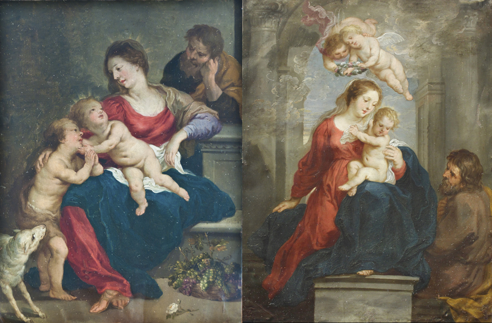 Pinturas sobre cobre procedentes del monasterio de capuchinas de Barbastro (siglo XVII). Foto: Museo Diocesano de Barbastro-Monzón