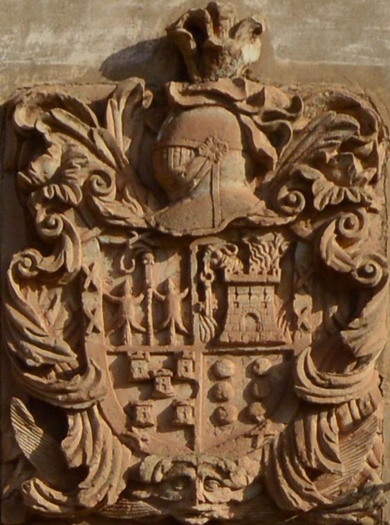 Escudo familiar en la casa de Used