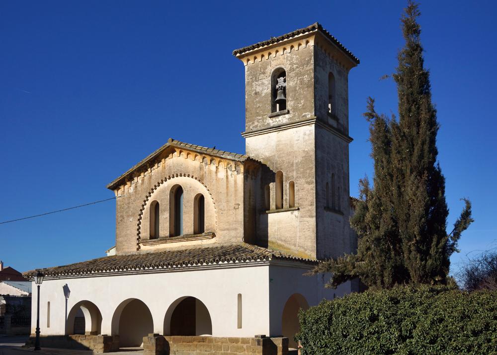 Las actuaciones del entorno de Huesca. Iglesia reconstruida en Banariés