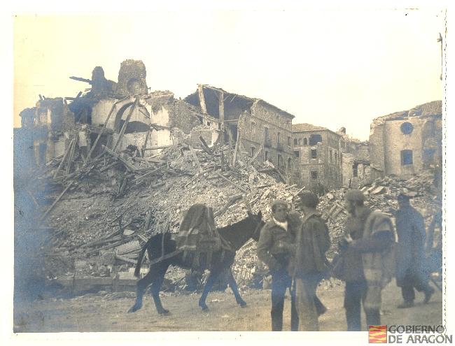 El Teruel devastado. Archivo Histórico Provincial de Teruel