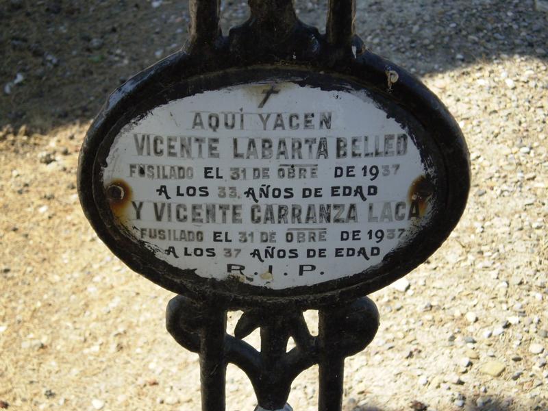 Enterramiento de víctimas de fusilamientos en Pina de Ebro