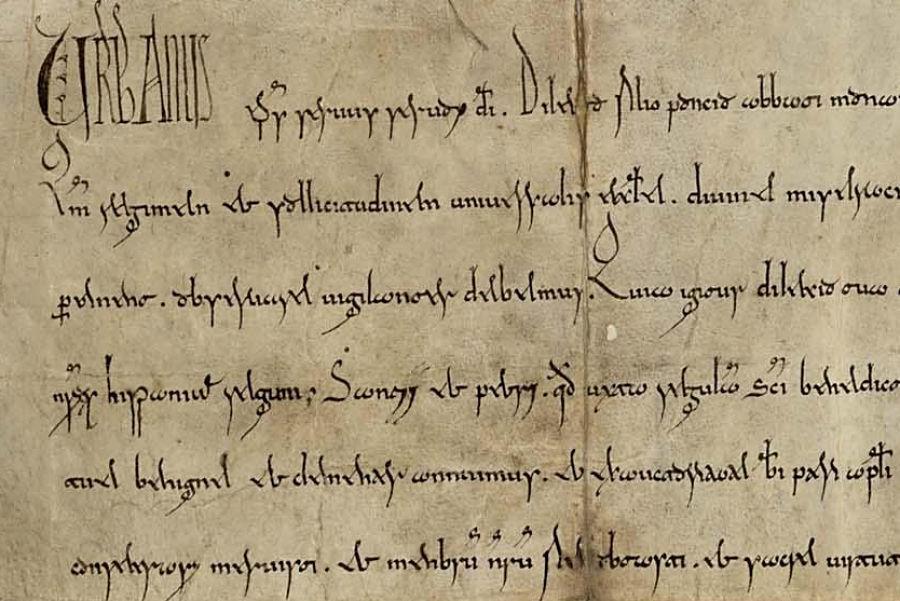 Las falsificaciones medievales de los monjes de San Victorián: bula del papa Urbano II confirmando los privilegios concedidos por los reyes aragoneses al monasterio (1096). Archivo Histórico Nacional
