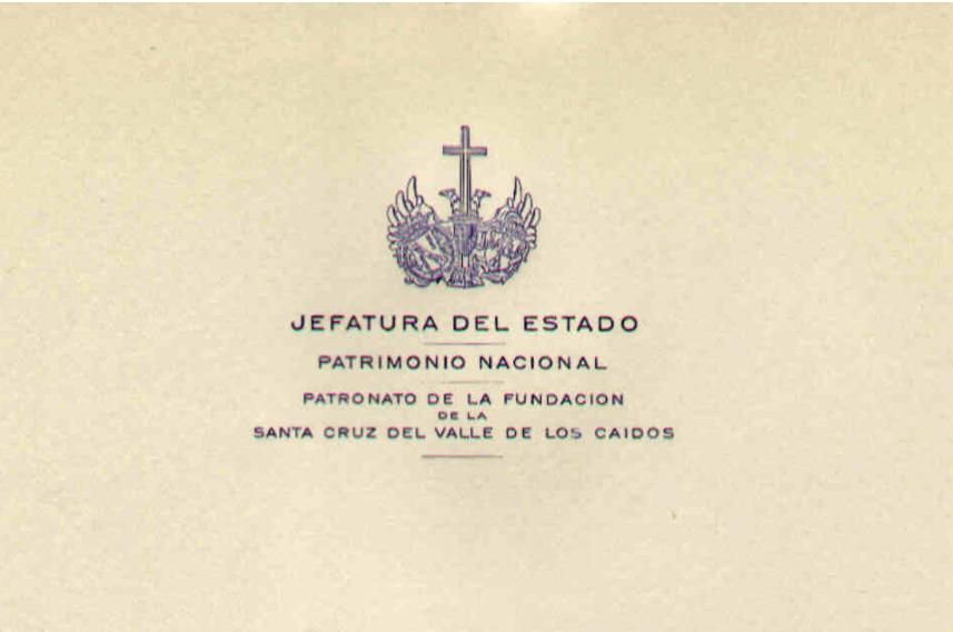 Encabezamiento de uno de los certificados del traslado de restos al Valle de los Caídos custodiados en el Archivo Histórico Provincial de Zaragoza