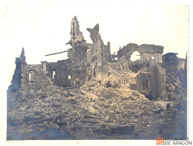 Ruinas del Seminario de Teruel. Archivo Histórico Provincial de Teruel