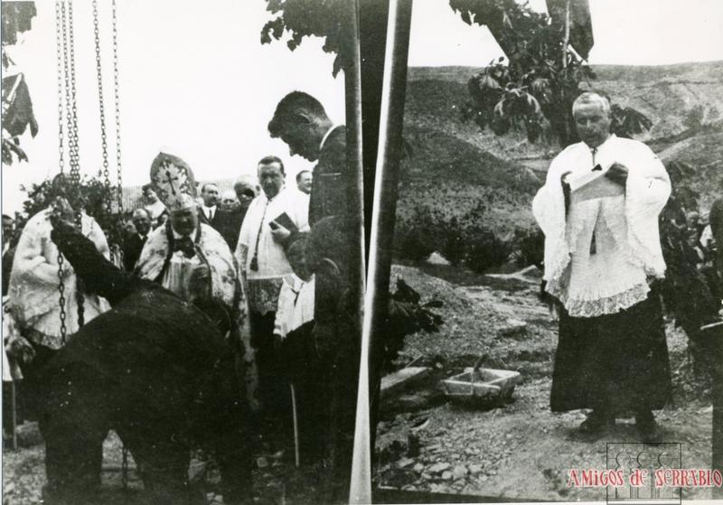 Llegada de autoridades a la inauguración de la Estación de Canfranc en 1928. Colección Teresa Coli, Archivo Amigos de Serrablo