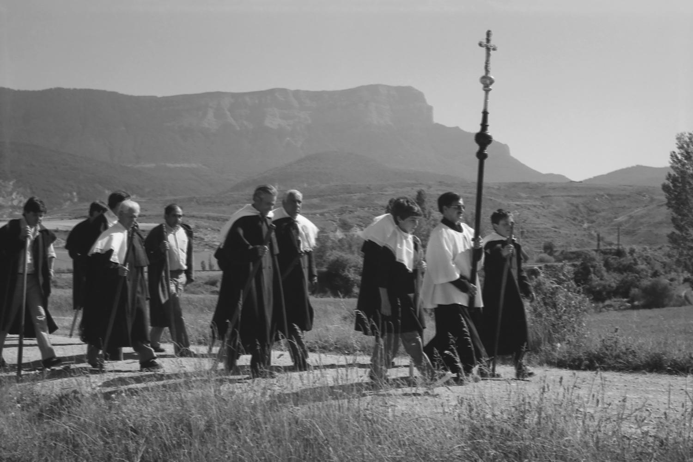 Víspera de Santa Orosia: romería en el Campo de Jaca (1985). E. Satué. Fototeca de la Diputación Provincial de Huesca