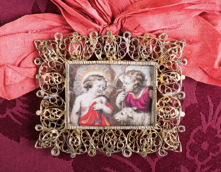 Joya barroca del tesoro jaqués de Santa Orosia. Foto: Javier Blasco