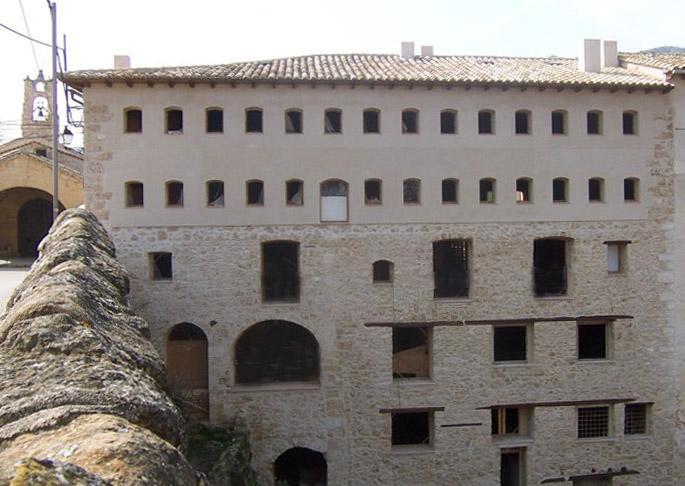 Fábrica de Solfa durante las obras para adaptación como hotel