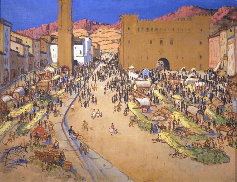 Feria en Ayerbe (1918)