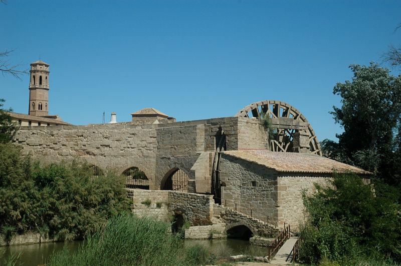 Monasterio de Rueda: molino, norial y acueducto gótico