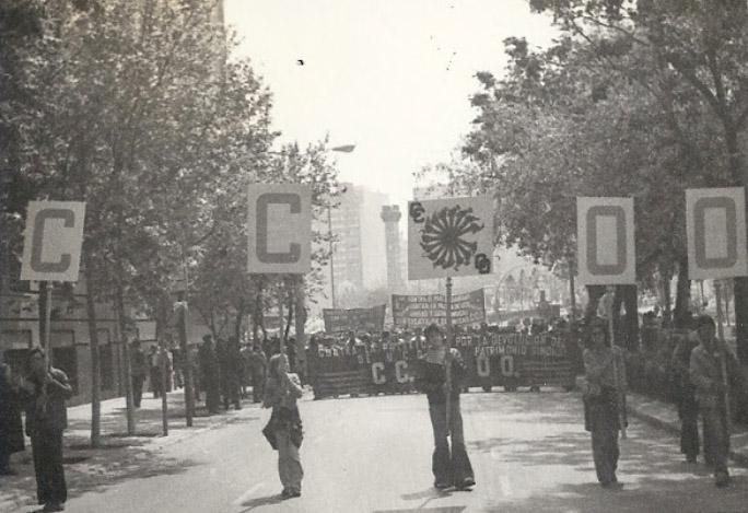 Manifestación del Primero de Mayo en Zaragoza. 1978
