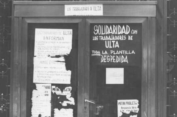 Huelga en Zaragoza. 1977