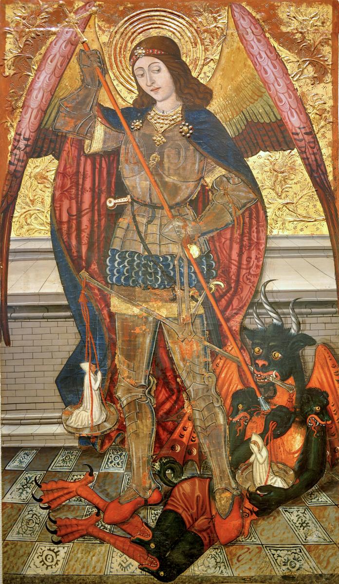 Tabla central del retablo de San Miguel de Abi. Taller de Pedro García de Benabarre (segunda mitad del siglo XV). Foto: Museo Diocesano de Barbastro-Monzón