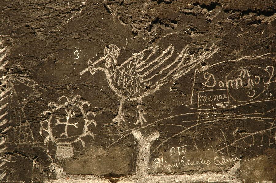 Graffiti en la Torre de la Cárcel de Broto