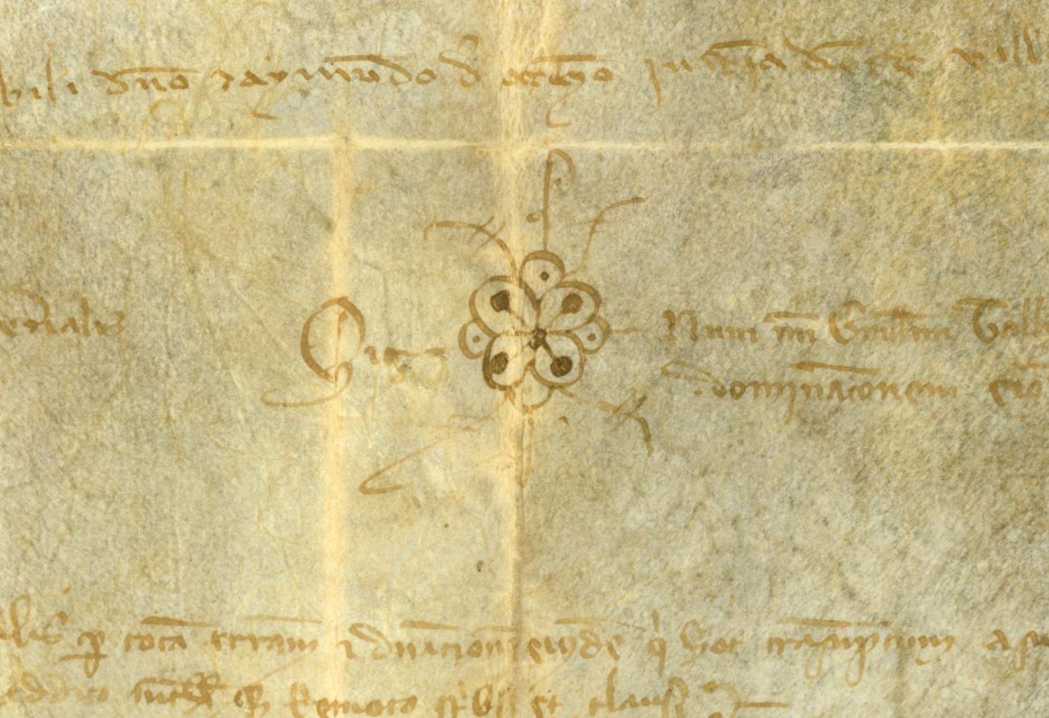 Privilegio concedido por el papa Alejandro IV a la orden del Temple, según el cual sus miembros no podían ser excomulgados (1256). Archivo Histórico Provincial de Huesca