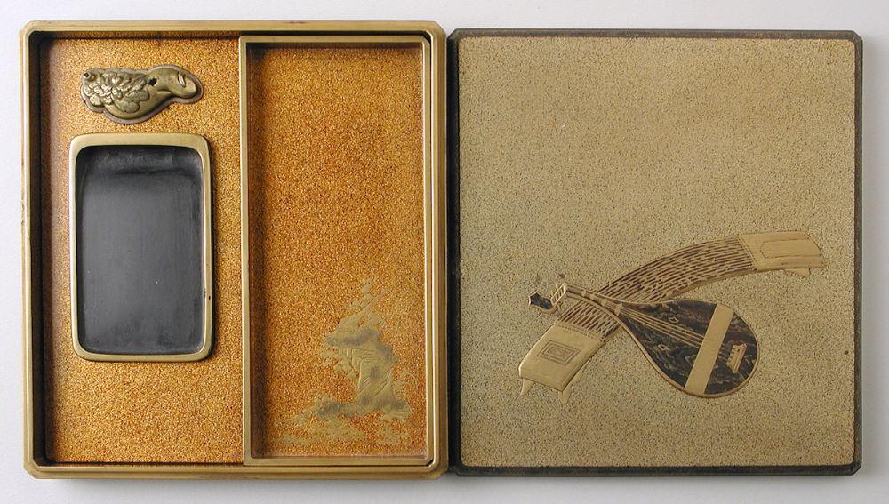 Caja con útiles de escritura. Siglo XVIII. Museo de Zaragoza. Foto: J. Romeo