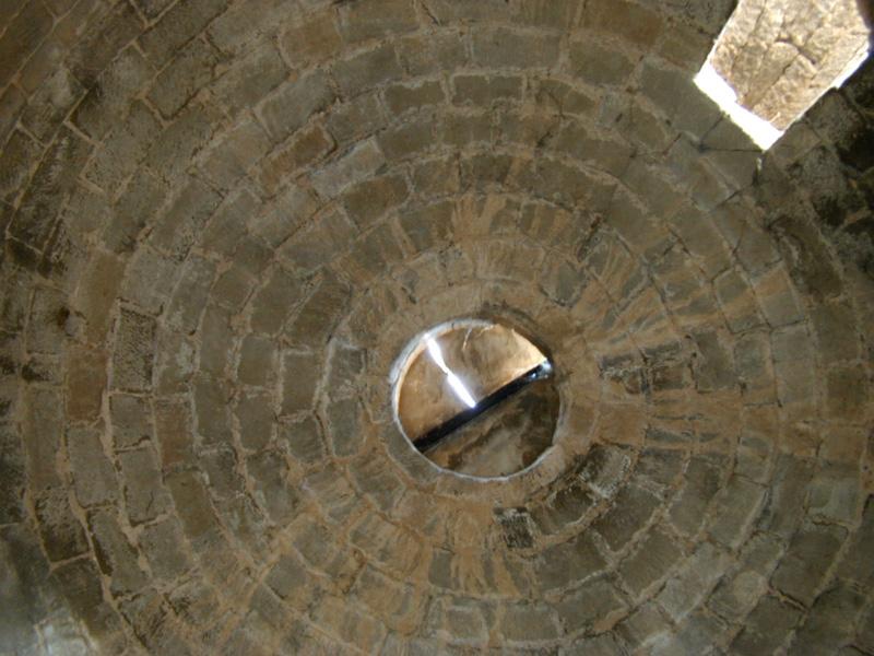 Vicién (Huesca): interior de la cúpula