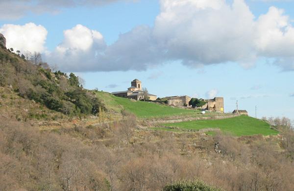 El conjunto de San Victorián desde el oeste. Foto: Gobierno de Aragón